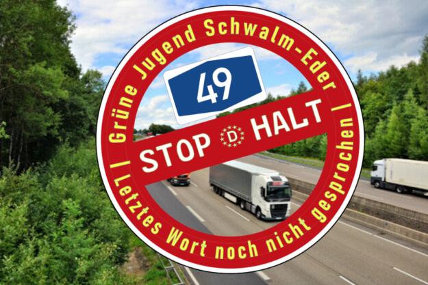 Die Grüne Jugend Schwalm-Eder will das A49-Projekt noch immer kippen. Montage: gsk