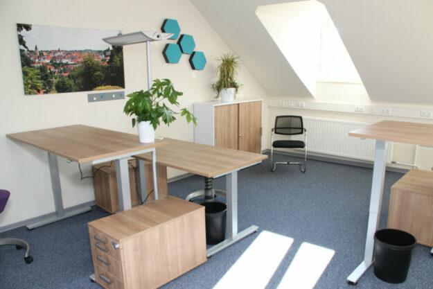 Der Coworkingspace Schwalmstadt bietet moderne Arbeitslplätze für Homeoffice an. Foto: Stadt Schwalmstadt