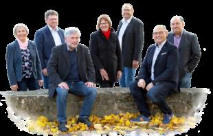 Von links: Christel Bald, Achim Jäger, Lothar Kothe, Christa Strohm, Markus Opitz, Markus K. Pollok, Stefan Jens Witzel. Foto: nh