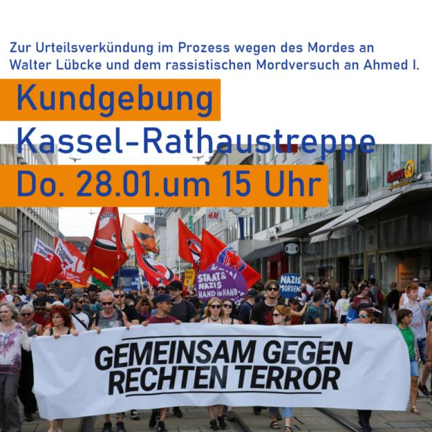 Gemeinsam gegen rechten Terror stehen morgen ab 15.00 Uhr verschiedene Kasseler Aktionsbündnisse, darunter der DGB und Fridays for Future. Foto: nh