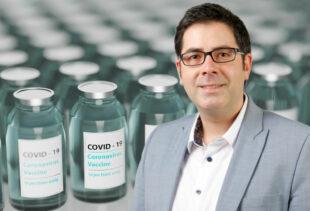 Landratskandidat Michael Schär (CDU) warnt vor unrealistischen Einschätzungen der Impfstoffmengen. Fotomontage: SEK-News