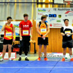 In der Zwickauer Mulde stellten sich die Athleten zum 15. Sparkassen Kugelstoß-Meeting von Rochlitz vor. Foto: nh