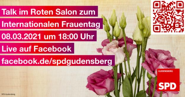 Einladung der Gudensberger Sozialdemokrat*innen zum Weltfrauentag. Grafik: SPD Gudensberg