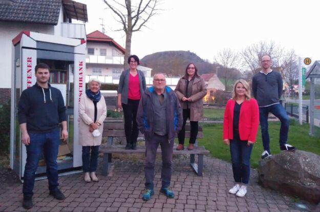 Gemeinsam für Maden (v.l.): Elmar Hempel, Karin Zenker-Rodemeister, Angela Sohl, Günter Heß, Tanja Steinmetz, Sandra Hesse und Stefan Kattner. Foto: nh
