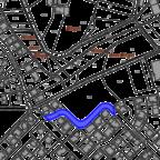 Ausschnitt aus dem Lageplan der Stadt Gudensberg mit Darstellung des gesperrten Bereichs. Quelle nh