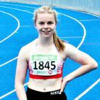 Vivian Groppe knackte in Mannheim die Normen für die deutschen Jugendmeisterschaften über 100 und 200 Meter. Foto: nh
