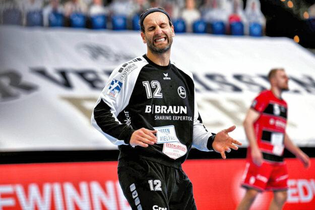 Im Auswärtsspiel gegen den THW Kiel (22.05.21) ging das Torhüter-Duell klar an Silvio Heinevetter. Foto: Alibek Käsler