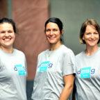 Das Funktionstrainings-Team (v.l.): Charlotte Klump, Stephanie Woschek und Nadine Scholl. Foto: Sophie Schüler