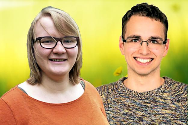 Für die GRÜNE JUGEND Schwalm-Eder sind Mariah Weidner und Christoph Sippel in den Kreistag gegangen. Fotomontage: gsk