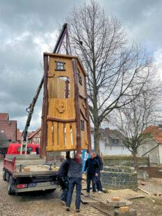 Das Turmfundament ist vorbereitet, der Überbau kann montiert werden. Foto: nh