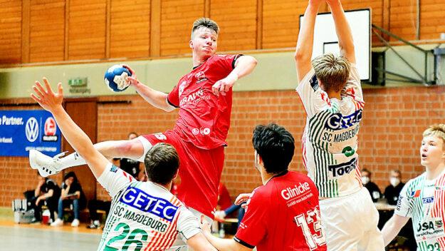 Mit einem 30:24-Sieg über den SC Magdeburg ging die B-Jugend der MT Talents in die Deutsche Meisterschaft. Foto: Heinz Hartung