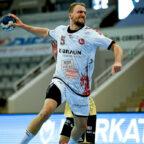 Julius Kühn war bester Torschütze im Auswärtsspiel der MT Melsungen gegen den HSC Coburg (30.05.21). Foto: Alibek Käsler