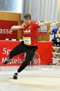 Luis André möchte  sich in Ulm mit einer Kugelstoßleistung um 16 m für die deutschen U18m-Meisterschaften qualifizieren. Foto: nh