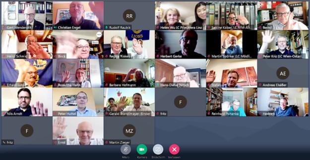 Screenshot vom Online-Meeting der Homberger Lions am 9.5.2021. Foto: Gert Wenderoth