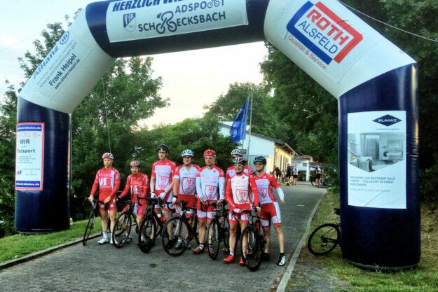 Sie sind Stammgast, wenn die Radsportabteilung des VfB Schrecksbach einlädt: die Radfahrer der MT Melsungen. Foto: nh