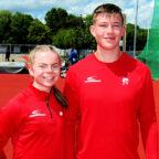 Vivian Groppe und Luis André (MT Melsungen) gehören in ihren Disziplinen zu den Top Ten in Deutschland. Foto: nh