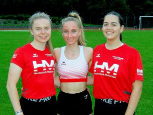 Vivian Groppe, Maybritt Böttcher und Naomi Schleider hatten angesichts ihrer Leistungen allen Grund zur Freude. Foto: nh