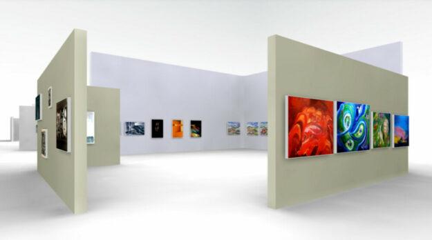 Der 27. Homberger Künstlertreff lädt zum virtuellen Rundgang durch die Ausstellungsräume ein. Foto: Screenshot