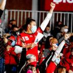 Fans werden auf den Tribünen voraussichtlich wieder zugelassen. So kommt für die MT Melsungen wieder Fahrt in den Bundesliga-Handball. Immerhin steht ein anspruchsvollen Restprogrammm dieser Saison auf dem Plan. Foto: Alibek Käsler
