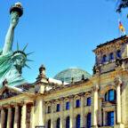 Miss Liberty und Reichstag – zur Teilnahme am Parlamentarischen Patenschaftsprogramm lädt die Bündnisgrüne Bettina Hoffmann (MdB) ein. Fotos: Patricia van den Berg / Gerald Schmidtkunz | Montage: seknews.de