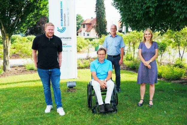 Bundestagskandidat Bastian Belz, Dr. Gerhard Scheuch, Bürgermeister Frank Gleim und die FDP Landtagsabgeordnete Wiebke Knell. Foto: nh