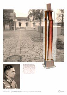 Entwurf einer Gedenk-Stele des Kasseler Künstlers Stephan von  Borstel, die nun auf dem Platz am Bahnhof intalliert werden soll. Quelle: Stephan von Borstel