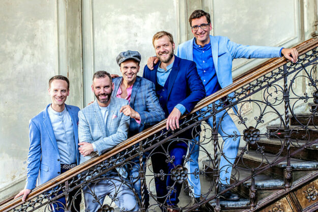 Vocaldente sind Benjamin Boresch, Countertenor – Tobias Kiel, Tenor – Jakob Buch, Tenor und Beatbox – Alexander Nolte, Bariton – Tobias Pasternack, Bass. Foto: nh