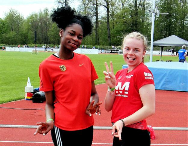 Holly Okuku (Baunatal) und Vivian Groppe (MT Melsungen) starten am Wochenende in Mannheim beim Qualifikationswettkampf für die U20-EM. Foto: nh