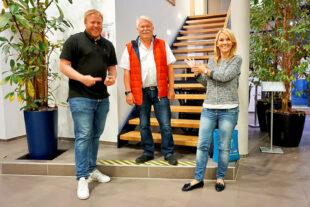 Der Kandidat für den Bundestag: Bastian Belz, der wiedergewählte Vorsitzende der FDP Morschen, Arne Beneke und die Stellv. FDP Landesvorsitzende, MdL Wiebke Knell, starten motiviert in den Bundestagswahlkampf (v.li.). Foto: nh