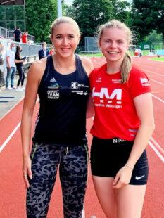 Über die Sprintzeiten der 16-jährigen Vivian Groppe staunte selbst die mehrfache deutsche 200m-Meisterin Rebekka Haase (Sprintteam Wetzlar). Foto: nh