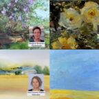 Die Künstler:innen und einige ihrer Arbeiten. Fotos & Montage: WTB