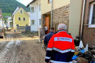 Für den Malteser Hilfsdienst beginnt jetzt der lange Beistand für die Flutopfer. Foto: Malteser Hilfsdienst