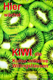 Plakat zur KiWi, der Kultur-Initiative Willingshausen. Foto: nh