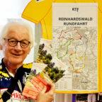 Udo Schäfer von der Zweiradgemeinschaft Kassel wirbt für die diesjährige Reinhardswaldrundfahrt. Foto: ZG Kassel