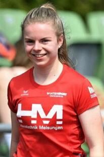 Vivian hatte allen Grund zur Freude, denn als Siegerin im ersten 200m-Zeitlauf verbesserte sie sich auf Rang zwei der aktuellen deutschen Bestenliste