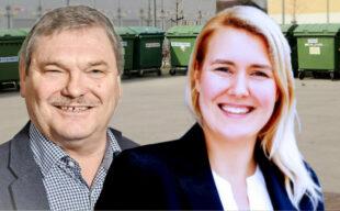 Reinhard Otto und Anna-Maria Bischof üben scharfe Kritik an der Müllentsorgung im Schwalm-Eder-Kreis. Fotomontage: gsk