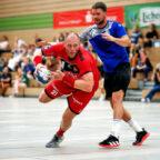 Den Sieg im dritten und damit letzten Turnierspiel im Linden-Cup musste die MT Melsungen dem Bergischen HC überlassen. Im Bild eine Aktion von Kreisläufer Arnar Freyr Arnarsson. Foto: Alibek Käsler