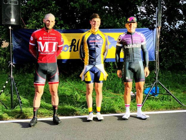 Von links: Christian Herr, MT Melsungen; Ben Völker, ZG Kassel; Erik Danner, Radteam Danner. Foto: nh