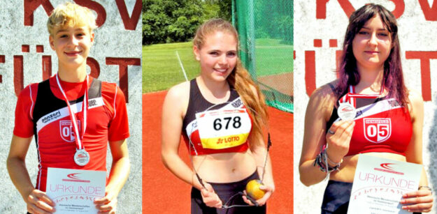 Die erfolgreichen Sport-Asse des TSV 05 Remsfeld (v.li.): Justin Enis, Franka Scheuer und Lea Jolie Richter. Fotos: Bernd Feldmann