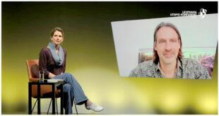 Maja Göpel und Richard David Precht im Utopie-Studio der Leuphana Utopie-Konferenz 2021. Screenshot: SEK-News
